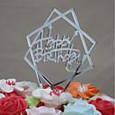 billige Kakedekorasjoner-Kakepynt Fødselsdag Akryl Euro-Amerikansk Plast Bursdag med 1 OPP