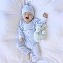 זול אוברולים טריים לתינוקות לבנים-אוברול וסרבל כותנה שרוול ארוך דפוס מסוגנן / חתיכה אחת / סגנון קלאסי בנים תִינוֹק / יום יומי / פעוטות