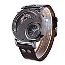 billiga Frackur-Oulm Herr Armbandsur Quartz Läder Brun Häftig Stor urtavla Analog-digital Klassisk Ledigt Mode Frackur - Brun