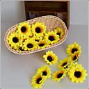 Χαμηλού Κόστους Ψεύτικα Λουλούδια & Βάζα-Ψεύτικα λουλούδια 10 Κλαδί Ποιμενικό Στυλ Ηλιοτρόπια Λουλούδι για Τραπέζι