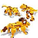 baratos Blocos de Montar-Blocos de Construir Conjunto de construção de brinquedos 3 em 1 Educação Triceratops Dinossauro Tiger 328 pcs Crianças Para Meninos Para Meninas Brinquedos Dom