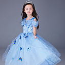 Χαμηλού Κόστους Περούκες Λολίτα-Πριγκίπισσα Cinderella Παραμυθιού Φορέματα Στολές Ηρώων Κοστούμι πάρτι Φόρεμα κορίτσι λουλουδιών Παιδικά Κοριτσίστικα Γραμμή Α Ρούχο από μέσα Χριστούγεννα Halloween Απόκριες Γιορτές / Διακοπές Σιφόν