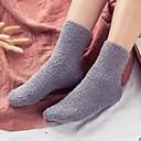 billige Tupéer-Herre Sokker - Ensfarget Ultravarm Mørkegrå Lyseblå En Størrelse