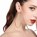billiga Modeörhängen-Dam Dropp Örhängen Ringformade Örhängen Tvinnad Machete damer Förstoringar Enorm örhängen Smycken Guld / Silver Till Party Street