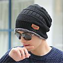 billige TWS Sann trådløse hodetelefoner-Herre Kontor Solhatt-Sport Strikket,Ensfarget Genser Vinter Svart