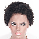 povoljno Perike s ljudskom kosom-Ljudska kosa Lace Front Perika stil Brazilska kosa Kovrčav Kinky Curly Perika 130% Gustoća kose Prirodna linija za kosu Žene Kratko Perike s ljudskom kosom