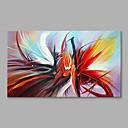 billiga Människomålningar-Hang målad oljemålning HANDMÅLAD - Abstrakt Moderna Inkludera innerram / Sträckt kanfas