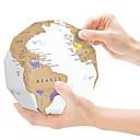 ราคาถูก จิ๊กซอว์-Scratch Map Globe แผนที่ 3D กระดาษ เด็กผู้ชาย เด็กผู้หญิง Toy ของขวัญ
