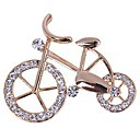 ราคาถูก ตุ้มหู-สำหรับผู้หญิง เข็มกลัด จักรยาน สุภาพสตรี หวาน สง่างาม พลอยเทียม เข็มกลัด เครื่องประดับ สีทอง สำหรับ ทุกวัน ที่มา