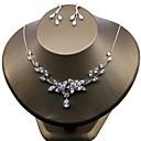 povoljno Komplet nakita-Žene Kubični Zirconia Cvijet Zircon Naušnice Jewelry Obala Za Vjenčanje Party