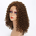 Χαμηλού Κόστους Συνθετικές περούκες χωρίς σκουφί-Συνθετικές Περούκες Σγουρά Σγουρά Περούκα Μεσαίο Μπεζ Συνθετικά μαλλιά Γυναικεία Περούκα αφροαμερικανικό στυλ Καφέ
