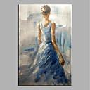 povoljno Slike krajolika-Hang oslikana uljanim bojama Ručno oslikana - Ljudi Starinski Bez unutrašnje Frame / Valjani platno