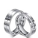 Χαμηλού Κόστους Δαχτυλίδια-Ανδρικά Γυναικεία Δαχτυλίδι αρραβώνων Σετ δαχτυλιδιών Cubic Zirconia Τιτάνιο Cubic Zirconia Τιτάνιο Ατσάλι Κλασσικό Γάμου Πάρτι / Βράδυ Κοσμήματα Πριγκίπισσα