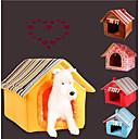 Χαμηλού Κόστους Κρεβάτια & Κουβέρτες σκυλιών-Γάτα Σκύλος Κρεβάτια Σκηνή Σπήλαιο Κρεβάτι Κατοικίδιο ζώο Ύφασμα Κατοικίδια Χαλάκια & Μαξιλαράκια Μονόχρωμο Ριγέ Φορητό Ζεστό Πτυσσόμενο Κίτρινο Καφέ