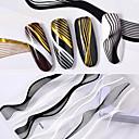 billiga dotting verktyg-2 pcs 3D Nagelstickers nagel konst manikyr Pedikyr Mode Dagligen / 3D Nail Stickers