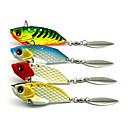 Χαμηλού Κόστους Σχέδιο φανάρι-4 pcs Atrăgătoare Pescuit Σκληρό Δόλωμα Βυθιζόμενο Bass Τρώκτης Λούτσος Θαλάσσιο Ψάρεμα Ψάρεμα με Μύγα Δολώματα πετονιάς Μεταλλικό / Περιστρεφόμενο / Jigging Fishing / Ψάρεμα Γλυκού Νερού