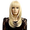 billige Syntetiske parykker uten hette-Syntetiske parykker Bølget Bølget Parykk Blond Kort Blond Syntetisk hår Dame Naturlig hårlinje Blond