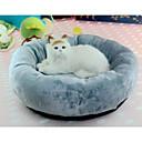 ราคาถูก ที่นอนและผ้าห่มสำหรับสุนัข-แมว สุนัข เบาะที่นอน ที่นอน ผ้าห่มเตียง ผ้า สัตว์เลี้ยง หมอนอิง & หมอน สีพื้น นุ่ม ซักได้ สีเทา