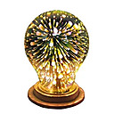 billige Fuskediamant-1pc 4 W LED-globepærer 350 lm E26 / E27 A60(A19) 28 LED perler Integrert LED Dekorativ Stjernefull 3D fyrverkeri Multi-farger 85-265 V / RoHs