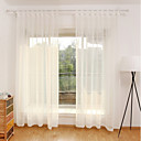 billiga Genomskinliga gardiner-moderna rena gardiner nyanser två paneler sovrum