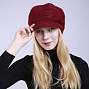 billige Maskaraer-Dame Aktiv Solhatt-Flettet,Stripet Akryl Romersk Strikk Vinter Svart Vin Lyseblå / Søtt