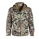 ราคาถูก กระเป๋านักล่า-สำหรับผู้ชาย Camouflage Hunting Jacket กลางแจ้ง รักษาให้อุ่น กันน้ำ กันลม ระบายอากาศ ฤดูใบไม้ร่วง ฤดูหนาว อำพราง เสื้อแจ็คเก็ต ซอฟท์เชล แจ็คเก็ต แจ็คเก็ตฤดูหนาว เส้นใยสังเคราะห์ ซอฟท์เซล แขนยาว / ยืด