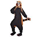 ราคาถูก ชุดนอน Kigurumi-ผู้ใหญ่ Kigurumi Pajama Raccoon Bear รูปสัตว์ Onesie Pajama Polar Fleece สีดำ คอสเพลย์ สำหรับ ผู้ชายและผู้หญิง สัตว์ชุดนอน การ์ตูน Festival / Holiday เครื่องแต่งกาย