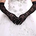 Χαμηλού Κόστους Καπέλα και Διακοσμητικά-Δαντέλα Πάνω από τον αγκώνα Γάντι Νυφικά Γάντια / Βραδινά / Πάρτυ Γάντια Με Δαντέλα