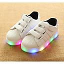 billige LED Sko-Jente LED / Komfort PU Treningssko Små barn (4-7år) Svart / Hvit / Rosa Vår / Høst