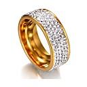 Χαμηλού Κόστους Μανικετόκουμπα Ανδρικά-Γυναικεία Band Ring Eternity Ring Cubic Zirconia μικροσκοπικό διαμάντι 1 Ασημί Χρυσαφί Ανοξείδωτο Ατσάλι Geometric Shape κυρίες Κλασσικό Βασικό Γάμου Αποφοίτηση Κοσμήματα