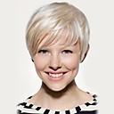 Χαμηλού Κόστους Χωρίς κάλυμμα-Ανθρώπινη Τρίχα Περούκα Κοντό Ίσιο Σύντομα Hairstyles 2019 Ίσια Πλευρικό μέρος Μηχανοποίητο Γυναικεία Μαύρο Μεσαία Auburn Άσπρο 8 Ίντσες