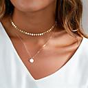 povoljno Modne ogrlice-Žene Choker oglice Ogrlice s privjeskom Bračni dame Osnovni Kamen Zlato Pink Ogrlice Jewelry Za Dnevno Klub