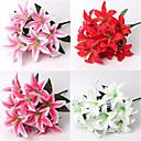 billiga Artificiell Blomma-Konstgjorda blommor 2 Gren Modern Stil Bröllop Liljor Bordsblomma