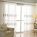 billiga Genomskinliga gardiner-samtida ren gardiner nyanser inomhus två paneler broderi sovrum