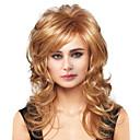 お買い得  カラー・ヘアエクステンション-人間の毛のキャップレスウィッグ 人毛 ウェーブ スタイル サイドパート ロング 機械製 かつら 女性用