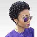Χαμηλού Κόστους Πλεξούδες μαλλιών-Ανθρώπινη Τρίχα Περούκα Κοντό Afro Kinky Curly Σύντομα Hairstyles 2019 Berry Kinky Σγουρό Άφρο Περούκα αφροαμερικανικό στυλ Μηχανοποίητο Γυναικεία Μαύρο 8 Ίντσες