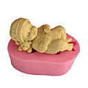 Χαμηλού Κόστους Περιλαίμια σκύλων και λουράκια-3d ύπνος μωρό σαπούνι μούχλα fondant φόρμα μούχλα κέικ φόρμας