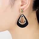 ราคาถูก ตุ้มหู-สำหรับผู้หญิง Drop Earrings front back earrings ต่างหูแฟน สุภาพสตรี ที่มีขนาดใหญ่ เรซิน ต่างหู เครื่องประดับ สีดำ / ไวน์ / เขียวเข้ม สำหรับ ปาร์ตี้ ของขวัญ