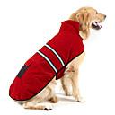 billiga Hundkläder-Hund Kappor Reflexband Vinter Hundkläder Håller värmen Orange Jägergrön Röd Kostym Mocka Cotton Enfärgad Håller värmen S M L XL XXL