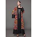 Χαμηλού Κόστους Ethnic & Cultural Κοστούμια-Γυναικεία Μεγάλα Μεγέθη Εκλεπτυσμένο Καφτάνι Φόρεμα - Γεωμετρικό, Στάμπα Μακρύ / Φαρδιά