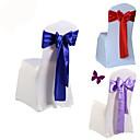 billige Bursdagdekor-10pcs / sett bryllup stol dekke sash bue slips bånd dekorasjon bryllup fest forsyninger
