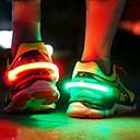 זול קישוט אורות-hkv ® הוביל זוהר נעל קליפ אור לילה אזהרה בטיחות רכיבה על אופניים רץ ספורט ירידה ירידה משלוח הספינה