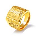 povoljno Muško prstenje-Muškarci Prsten Izjave pljuska Ring Pečatni prsten Zlato Titanium Steel Titanij Čelik Geometric Shape Statement Ogroman Dubai Vjenčanje Dnevno Jewelry Geometrijski
