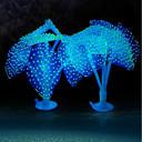 Χαμηλού Κόστους Διακόσμηση &Χαλίκια Ενυδρείου-Ενυδρείο ψαριών Διακόσμηση Ενυδρείου Μέδουσα Βυσσινί Τεχνητά Διακοσμητικό Καουτσούκ Σιλικόνης 2 10*9*10 cm
