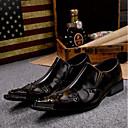 ราคาถูก รองเท้าแตะ & Flip-Flops ผู้ชาย-สำหรับผู้ชาย Novelty Shoes หนังสัตว์ ฤดูใบไม้ผลิ / ฤดูร้อน วินเทจ รองเท้า Oxfords สีน้ำตาล / งานแต่งงาน / พรรคและเย็น / หมุดย้ำ / พรรคและเย็น / รองเท้าสบาย ๆ