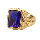 ราคาถูก แหวนผู้ชาย-สำหรับผู้ชาย คำชี้แจง Ring แหวนตรา ไพลิน Cubic Zirconia แดง สีเขียว ฟ้า เพทาย Titanium Steel เครื่องประดับชิ้นใหญ่ วินเทจ Rock ทุกวัน ที่มา เครื่องประดับ เล่นไพ่คนเดียว Emerald Cut
