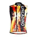 Χαμηλού Κόστους Σβούρες πολλαπλών κινήσεων-ILPALADINO Ανδρικά Αμάνικο Φανέλα ποδηλασίας Πορτοκαλί+Άσπρο Νεκροκεφαλές Ποδήλατο Γιλέκο Αθλητική μπλούζα Αμάνικη Μπλούζα Ποδηλασία Βουνού Ποδηλασία Δρόμου Γρήγορο Στέγνωμα Αθλητισμός / Ελαστικό