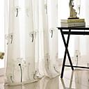 olcso Áltátszó drapériák-kortárs puszta függöny árnyalatok beltéri két panel hímzés hálószoba