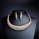 povoljno LED glave za tuš-Žene Kubični Zirconia mali dijamant Viseće naušnice Ogrlice s privjeskom dame Umjetno drago kamenje Pozlaćeni Naušnice Jewelry Zlato Za Vjenčanje Večer stranka