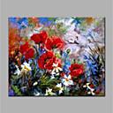 Χαμηλού Κόστους Πίνακες με Λουλούδια/Φυτά-Hang-ζωγραφισμένα ελαιογραφία Ζωγραφισμένα στο χέρι - Άνθινο / Βοτανικό Μοντέρνα Χωρίς Εσωτερικό Πλαίσιο / Κυλινδρικός καμβάς